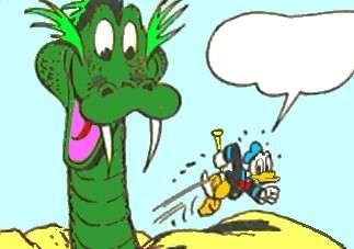 Anders forsøger at flygte fra søslangen