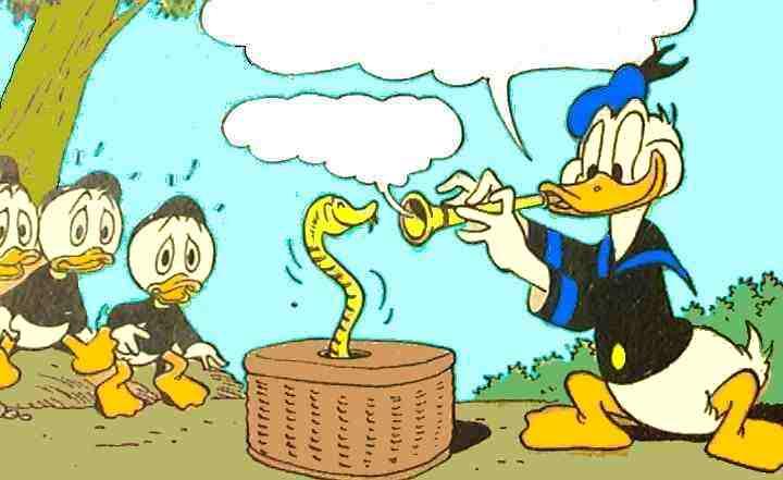 Anders viser sine nevøer at han er slangetæmmer