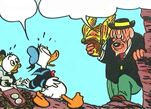 Sten Grå snupper hjelmen fra ænderne.